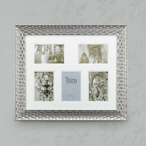 Lavelle Collage Frame Silver, 5X 4 x 6 Pictures