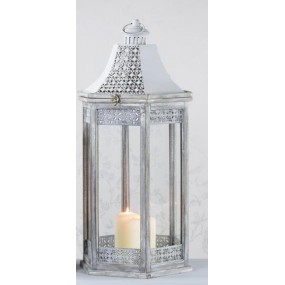 Oxford Lantern Hex Grey Large