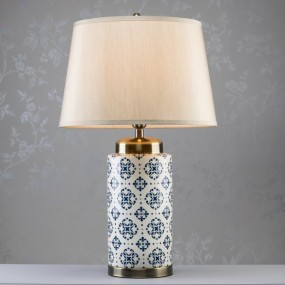 Grace Ceramic Cylinder Lamp 75cm