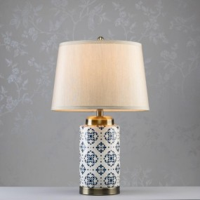 Grace Ceramic Cylinder Lamp 59cm