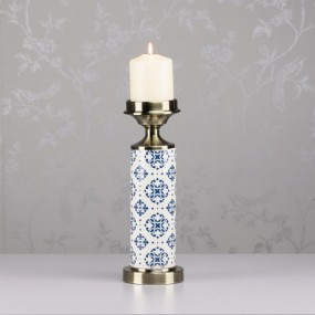 Grace Ceramic Cylinder Candle Holder 33cm