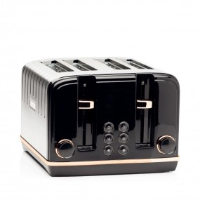 Haden Salcombe Black & Copper 4 Slice Toaster Toasters