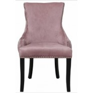 Tufted Back Dining Chair Blush