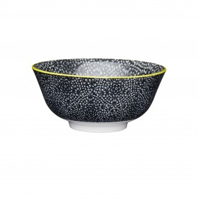 KitchenCraft Floral Bowl Stoneware Black