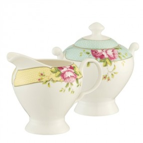 Belleek Archive Rose Sugar & Cream Set