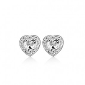 Clear Stone Heart Earrings Jewellery / Watches