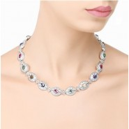 Newbridge Silverware Multi Coloured Stone Necklace