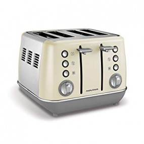 Morphy Richards Evoke 4 Slice Cream Toaster Toasters