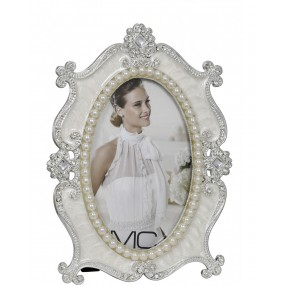 Cream Elegance Pearl Oval Frame 4x6 Giftware