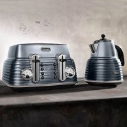 De'Longhi Scultura Kettle - Gun Metal Grey