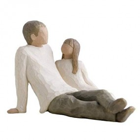 Father and Daughter Figurines