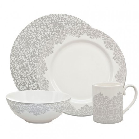 Denby Monsoon Filigree 16 Piece Boxed Dinner Set