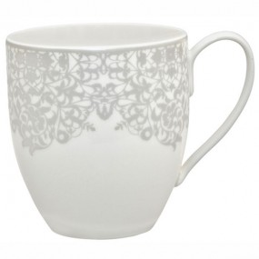 Denby Monsoon Filigree Silver Large Mug