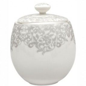 Denby Monsoon Filigree Covered Sugar