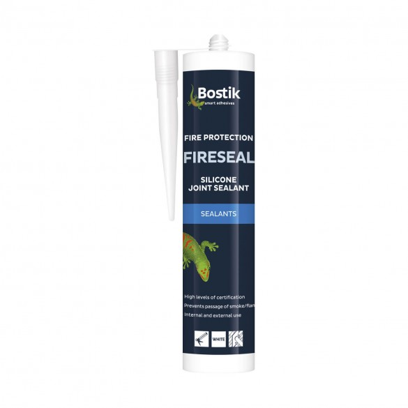 Bostik Fireseal Silicone joint Sealant White 300ml