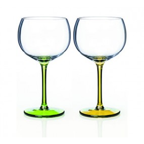 Newgrange Living Party Gin Glass Set of 2 (Green & Yellow)