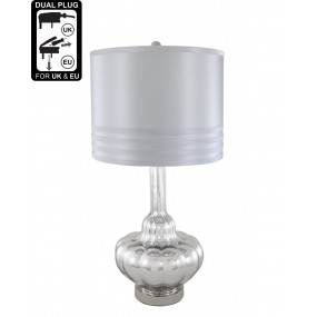 CIMC Value Glass Silver Table Lamp 73.5cm