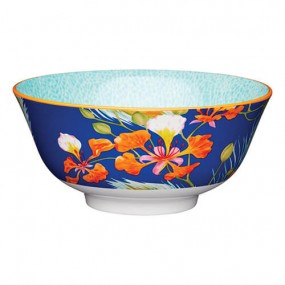 Kitchen Craft Peacock Floral Stoneware Bowl