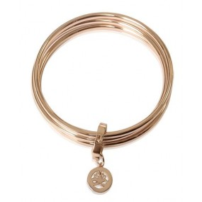 Newbridge Silverware Rose Gold Plated Triple Bangle