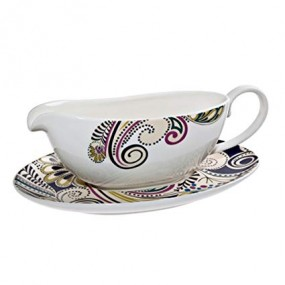 Monsoon Cosmic Gravy Boat & Stand