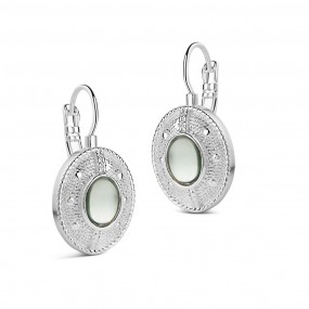 Newbridge Silverware Green Stone Earrings Jewellery / Watches
