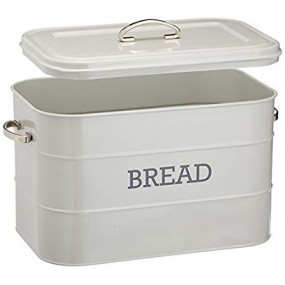 KitchenCraft Living Nostalgia Grey Bread Bin Kitchen Storage