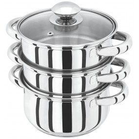 Judge Basics 3 Tier Stainless Steel Steamer Set - 20cm