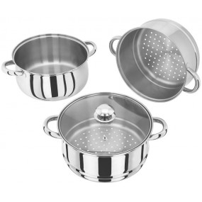Judge Basics 3 Tier Staineless Steel Steamer Set - 22cm