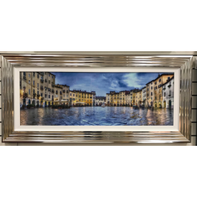 Italian market Sqaure Framed Picture