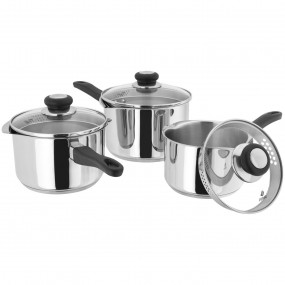 Judge Vista 3 Piece Draining Saucepn Set (3 Piece) Kitchenware