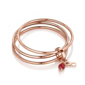 Triple Bangle Birthstone January Giftware