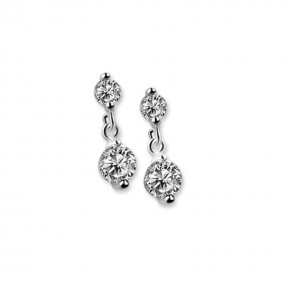 JC2650 Drop Earrings Clear Stone Jewellery / Watches