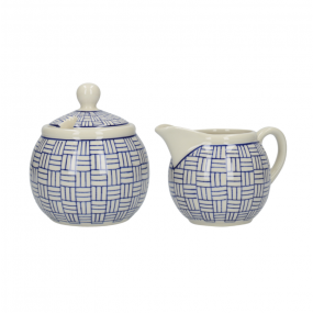 London Pottery Sugar and Creamer Set Lattice, Out of The Blue Serveware
