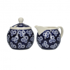 London Pottery Sugar Bowl and Creamer Set, Out of The Blue - Small Daisies Serveware