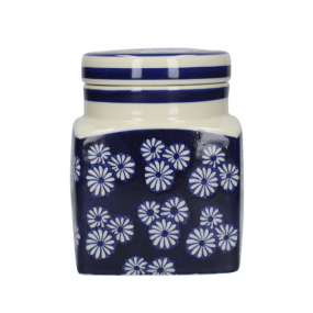 London Pottery Out of The Blue Ceramic Canister, Small Daisies Kitchen Storage