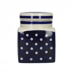 London Pottery Out of The Blue Ceramic Canister,  Blue & White Circles Kitchen Storage