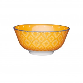 KitchenCraft Orange Spotty Ceramic Bowl Dinner Sets