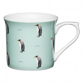 KitchenCraft Bone China Flute Mug Penguin, 300ml Mugs & Cups