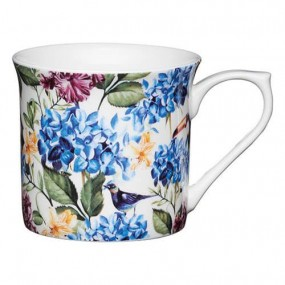 KitchenCraft Fluted Mug Country Floral, 300ml Mugs & Cups