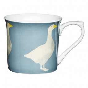 KitchenCraft Bone China Flute Mug Goose, 300ml Mugs & Cups
