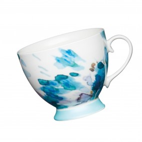 KitchenCraft Footed Mug Painted Blue Floral Mugs & Cups