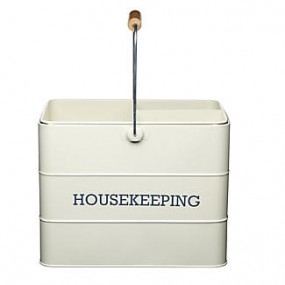 KitchenCraft Living Nostalgia Housekeeping Box Cream