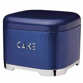 Lovello Textured Cake Tin - Midnight Blue Kitchen Storage