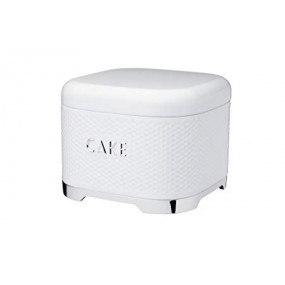 Lovello Textured Cake Tin - White Kitchen Storage