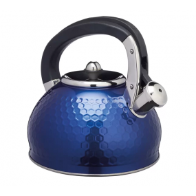 Lovello 2.5L Stainless Steel Whistling Stovetop Kettle - Midnight Blue Teaware