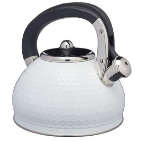 Lovello 2.5L Stainless Steel Whistling Stovetop Kettle - Ice White Teaware