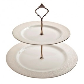 Monsoon Lucille Gold Cake Stand Kitchenware