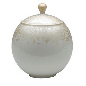 Monsoon Lucille Gold Covered Sugar Bowl Kitchenware