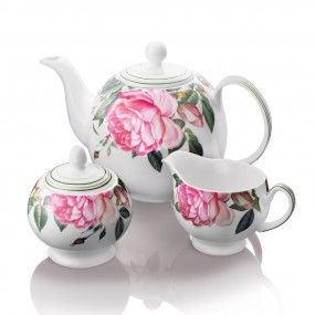 Newbridge Rose 3 Piece Teaset Mugs & Cups