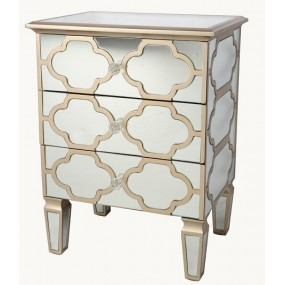 Side Unit 3 Drawer Casablanca hest Champagne